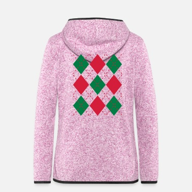 Ugly Christmas Ugly Argyle lozenges pattern Christmas sweater - Women's Hooded Fleece Jacket