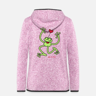 Unbelieving Frog in Love - Women's Hooded Fleece Jacket