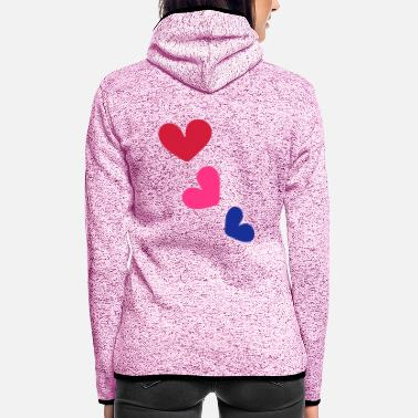 Shape Underwear 3_colorful hearts - Women's Hooded Fleece Jacket