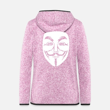 Piracy Anonymous / Guy Fawkes mask 1Clr - Women's Hooded Fleece Jacket