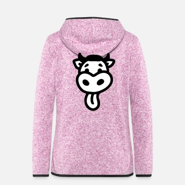 Tongue Cow - Tongue - Women's Hooded Fleece Jacket