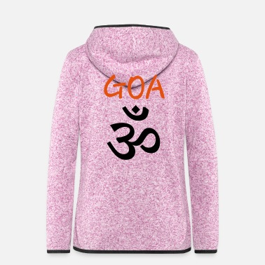Goa Psy GOA (Om) - Text GOA - Frauen Fleece Kapuzenjacke