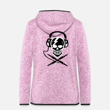 Piracy Pirate music, pirate music piracy Headphones - Women's Hooded Fleece Jacket