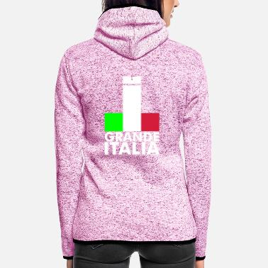 Football Underwear Italia Italy flag - grande italia - provocative - Women's Hooded Fleece Jacket