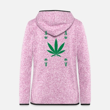 Poker ASS HANF POKER ACE CANNABIS GESCHENK - Frauen Fleece Kapuzenjacke