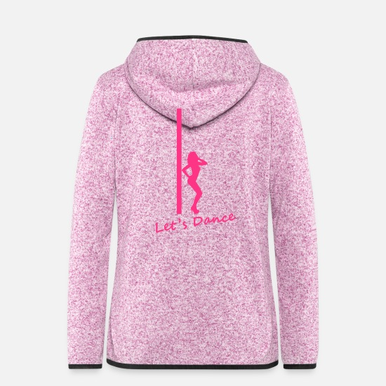 Dancing Jackets - Pole Dance - Women's Hooded Fleece Jacket purple heather