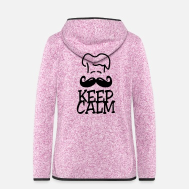 Cuisine keep calm chef - Frauen Fleece Kapuzenjacke