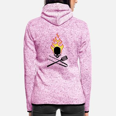 fire_skull_cook_112011_g_3c - Women's Hooded Fleece Jacket