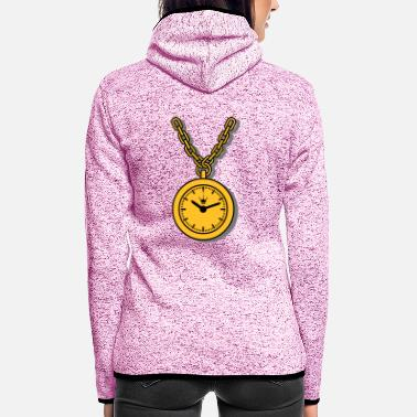 Clock clock chain - Frauen Fleece Kapuzenjacke