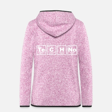 Periodic Table TECHNO PERIODIC TABLE - Women's Hooded Fleece Jacket