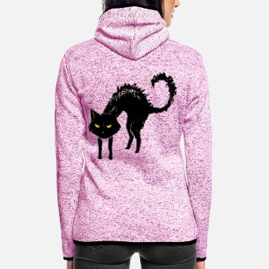 Rupert black_cat - Frauen Fleece Kapuzenjacke