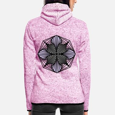 Abstract Geometric Art: Octagon (Shaded) - Women's Hooded Fleece Jacket