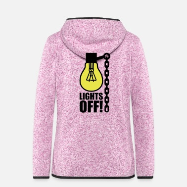 Light Lights off | Light bulb - Women's Hooded Fleece Jacket