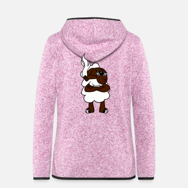 Sour cigar cigarette smoking sour angry angry frustrate - Women's Hooded Fleece Jacket