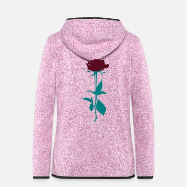 Rose rose - Women's Hooded Fleece Jacket