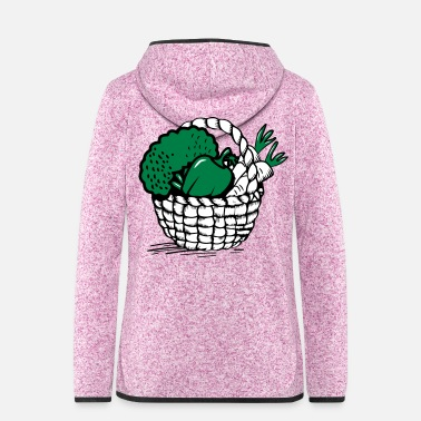 Basket vegetable basket - Women's Hooded Fleece Jacket