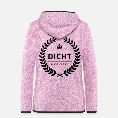 Bursdag DICHT FIRST CLASS - Badge - Frauen Fleece Kapuzenjacke