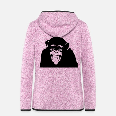 Darwin MONKEY - Women's Hooded Fleece Jacket