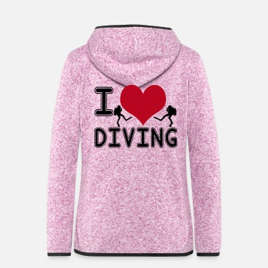 Marine I love diving - Frauen Kapuzen-Fleecejacke