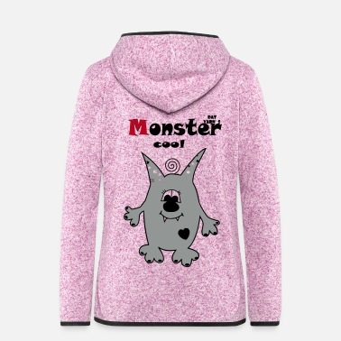 Kindergarten Monstercool - Frauen Kapuzen-Fleecejacke