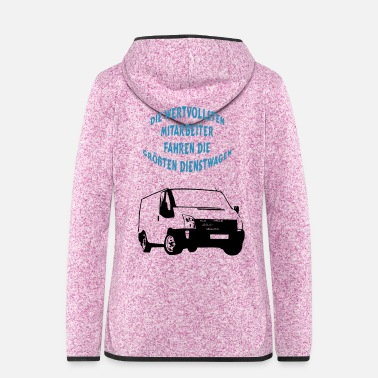 Transport Dienstwagen Transporter - Frauen Fleece Kapuzenjacke