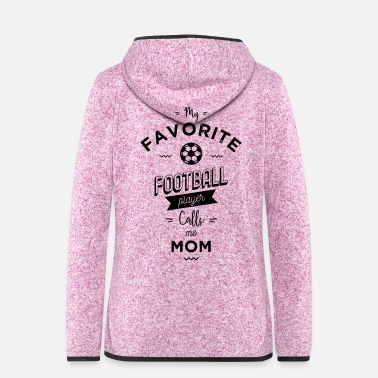 Gallina My favorite football player - Giacca di pile con cappuccio da donna