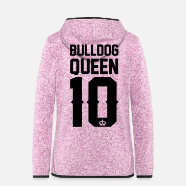 Bulldog English Bulldog-Queen - Frauen Kapuzen-Fleecejacke