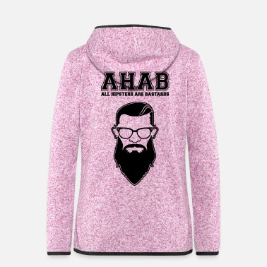 Swag ALL HIPSTERS ARE BASTARDS - Funny Parody  - Frauen Kapuzen-Fleecejacke