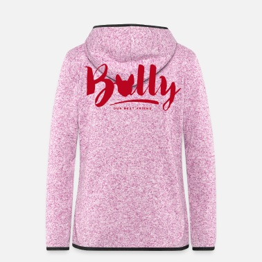 Bulldog Bully Typo - Frauen Kapuzen-Fleecejacke