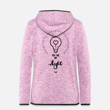 Matrimonio YOU ARE MY LIGHT - - Giacca di pile con cappuccio da donna