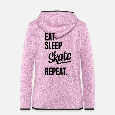 Roller EAT SLEEP SKATE - Frauen Kapuzen-Fleecejacke