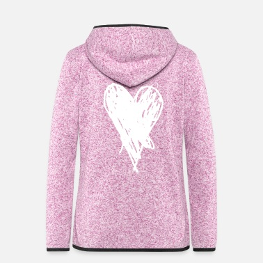 Love You Heart and love to say I love you, i love you - Women's Hooded Fleece Jacket