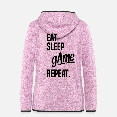 EAT SLEEP GAME - Women's Hooded Fleece Jacket