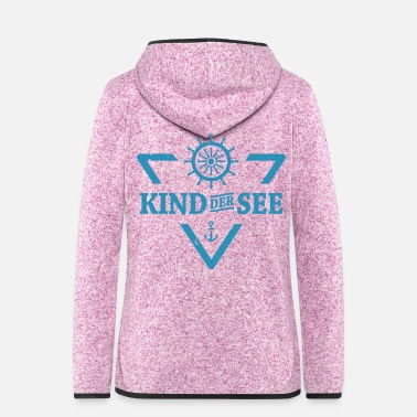 See Kind der See - Frauen Fleece Kapuzenjacke