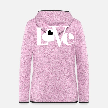 I Heart Love with Heart - Frauen Kapuzen-Fleecejacke