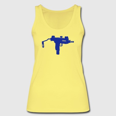 Uzi submachine gun silhouette - Women's Organic Tank Top by Stanley & Stella
