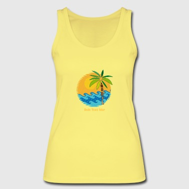 Palm Trees Island, sea and Palm Tree - Women's Organic Tank Top by Stanley & Stella