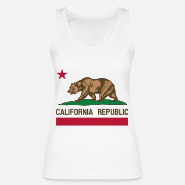 Flagge Nationale Flagge California - Frauen Bio Tanktop