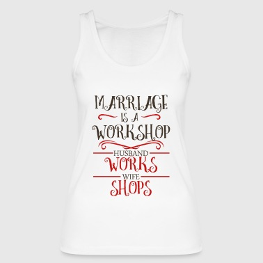 Wedding wife husband marriage love wedding day - Women's Organic Tank Top by Stanley & Stella