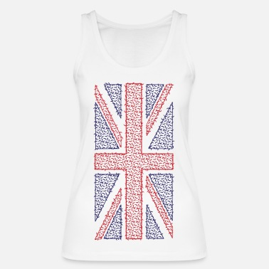 Womens Union Jack Curvy Union Jack T-Shirt - Vertical Print - Women's Organic Tank Top by Stanley & Stella