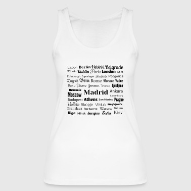 European capitals - Women's Organic Tank Top by Stanley & Stella