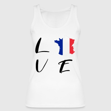 FRANKRIKE FRANCE LOVE FOOTBALL WRITING GIFT - Økologisk singlet for kvinner fra Stanley & Stella