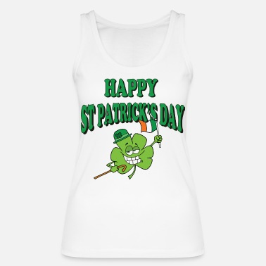 St Patricks Day Happy St Patrick's Day - Women's Organic Tank Top