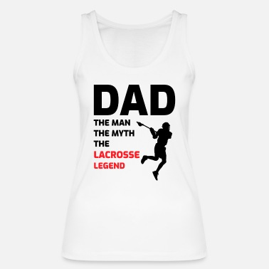 Casco Lacrosse Player Dad Fathers Day Gift - Hobby divertido - Camiseta de tirantes orgánica mujer