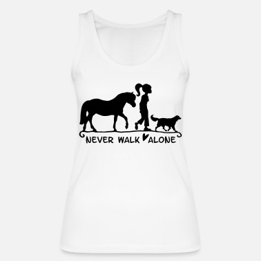 Never Walk Alone never walk alone - Women's Organic Tank Top