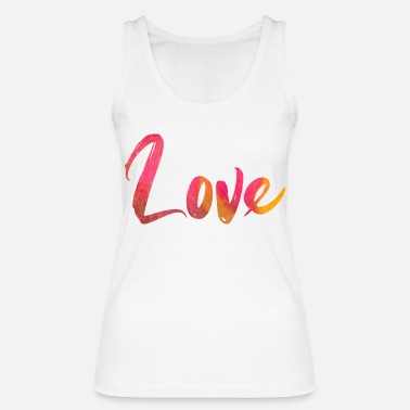 LOVE love watercolor gift valentines day - Women's Organic Tank Top