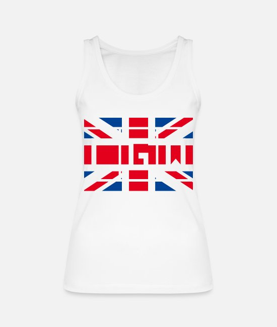 National Team Tank Tops - Great Britain - London Gatwick Airport - Women's Organic Tank Top white