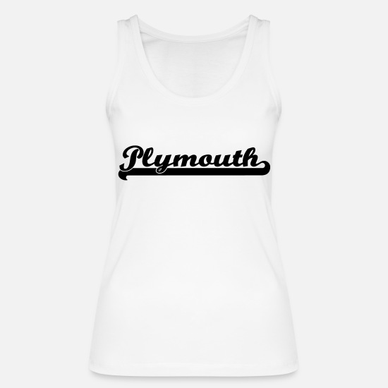 Lettering Tank Tops - plymouth writing - Women's Organic Tank Top white