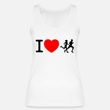 Sprinten I love racing - jogging - Women's Organic Tank Top