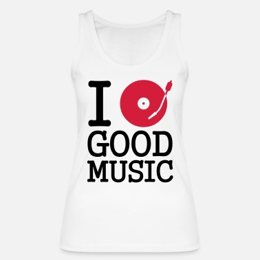 Stereo I dj / play / listen to - Vrouwen bio tank top
